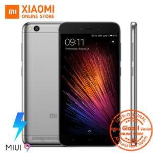 Global Version Xiaomi Redmi 5A 5 A Mobile Phone Snapdragon 425 Quad Core 2GB 16GB 5.0 Inch 13.0MP Camera 3000mAh MIUI 9 OTA £65.07 @ aliexpress now reduced by a whole penny woohoo (choose the grey option for this price)