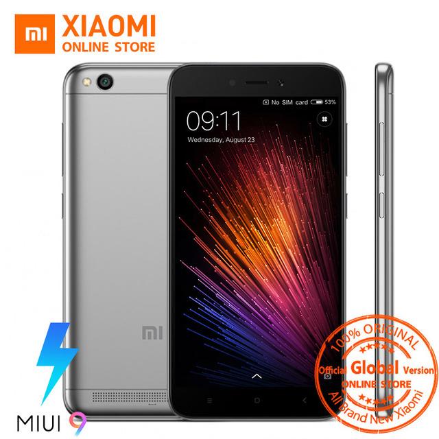 Global Version Xiaomi Redmi 5A 5 A Mobile Phone Snapdragon 425 Quad Core 2GB 16GB 5.0 Inch 13.0MP Camera 3000mAh MIUI 9 OTA £65.07 @ aliexpress(choose the grey option for this price)