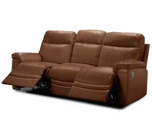 Collection New Paolo 3 Seater Manual Recliner Sofa – Tan £333.34 with code @ Argos
