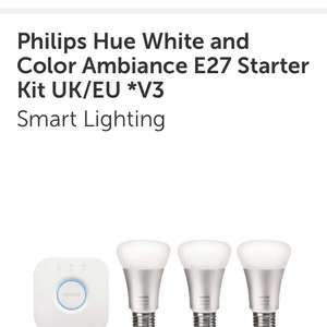 Phillips Hue light bulbs £54 @ Richer sounds