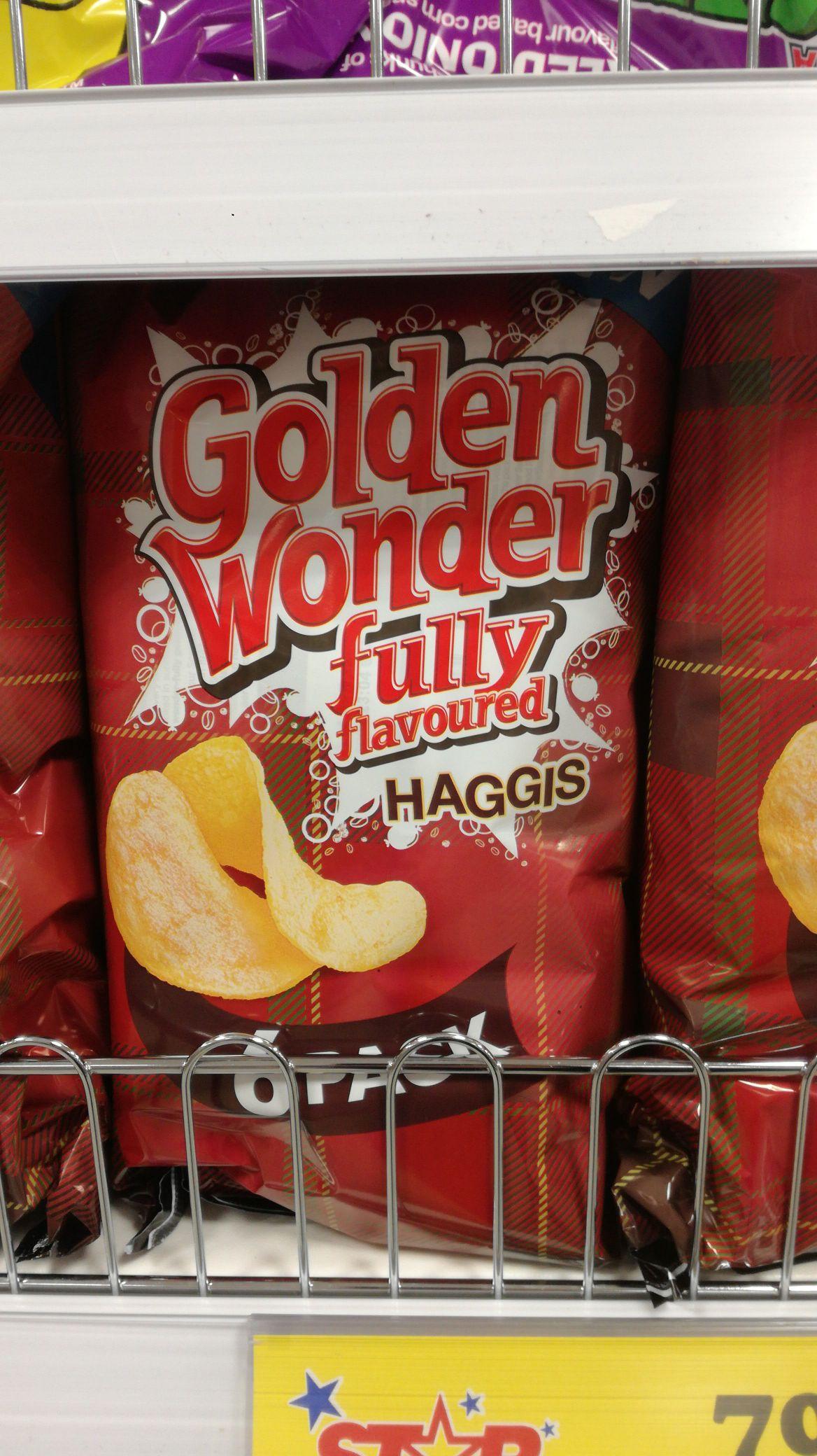 6 pack Golden Wonder Haggis flavoured crisp @ Home Bargains for 79p