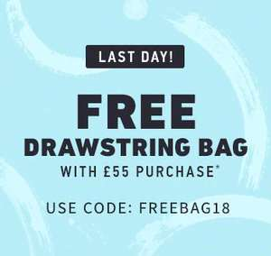 Free Hollister Drawstring Bag when you spend £55 online