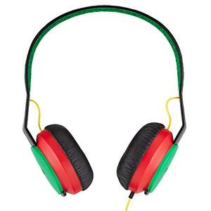 House of Marley Roar - On-Ear Headphones with Microphone, Easy 1 Button Control, Durable Comfortable Design, Superb Sound 40mm Driver, 20Hz-20KHz – Rasta  £7.99 Prime / £11.98 Non Prime Sold by Trusted-Goods and Fulfilled by Amazon