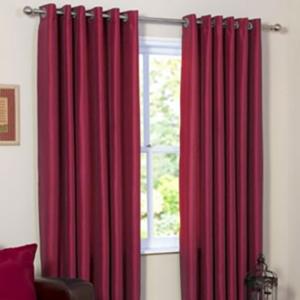 Faux silk eyelet curtains - 168 cm wide 137cm drop - £1.99 @ The Range (+ £3.95 Del)