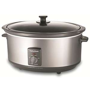 Morphy Richards 48718 Oval Slow Cooker, 6.5 Litre, Silver FREE SHIPPING Amazon Prime!
