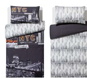 Home NYC reversible bedding sets X2 - single £9.99  OR X2 double £11.99 @ Argos