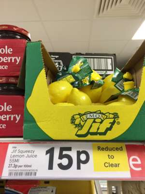 Jif lemon juice @ Tesco express / esso fuel station (airdrie top cross) - 15p