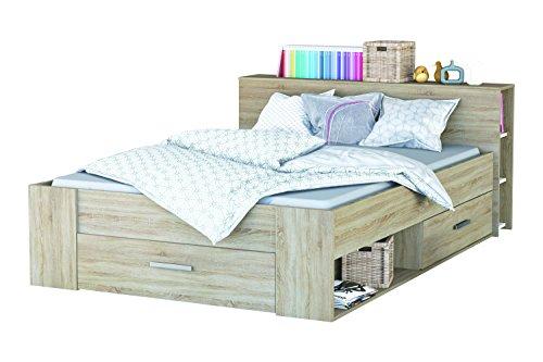"""Demeyere """"Pocket"""" Bed, Wood, Brushed Oak, 140 x 200 cm £52.78 @ Amazon Prime"""