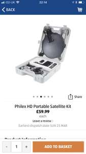 Philex HD Portable Satellite Kit @ aldi - £59.99