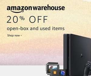 20% off the Amazon UK  / Germany & Spain Warehouses - Now live