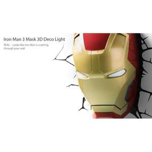 Ex-Display Iron Man 3 Mask 3D Deco Light (Marvel) by 3D Light FX @365GAMES - £10.72