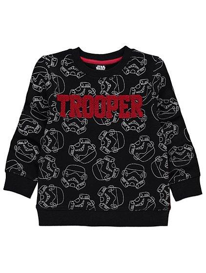 Star Wars Stormtrooper childrens sweatshirt 3-4,4-5,5-6 now £5  @ Asda