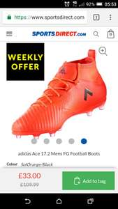 Adidas Men's Ace 17.2 Primemesh football boots £26.40 + £4.99 delivery Sportsdirect