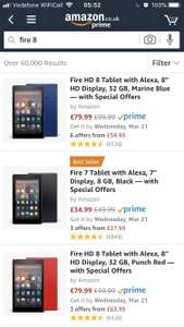Fire 10 HD / Fire 8 HD & Fire 7 all reduced at Amazon - from £34.99