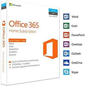 Microsoft Office 365 Home | 5 Devices | 1 Year | PC/Mac | Download - £49.99 Amazon