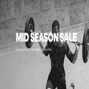 Adidas Mid Season sale - up to 50% off + free delivery with £50 spend + free 100 day returns