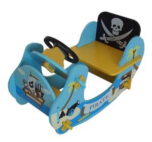 Wooden Pirate Themed Rocking Boat in Blue or Brown now £20.99 Delivered @ Tesco Direct (Sold by Bebe Style)