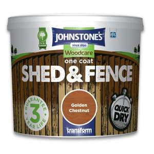 Johnstones Woodcare One Coat Shed & Fence Various Colours 5L for £4 @ Homebase