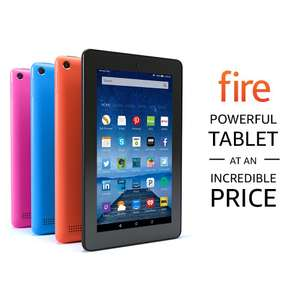Amazon Fire 8 with Alexa HD 8 Inch 16GB Tablet (Black/Red/Blue) now £59 or Amazon Fire 7 with Alexa 7 Inch 8GB Tablet now £34 @ Tesco Direct (Free C&C)