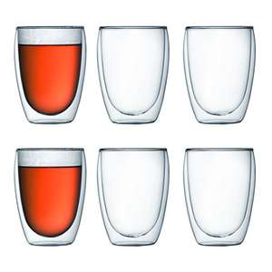 Bodum PAVINA Double Walled Thermo Glasses, 0.35 L, Set of 6 £29.99 @ Amazon