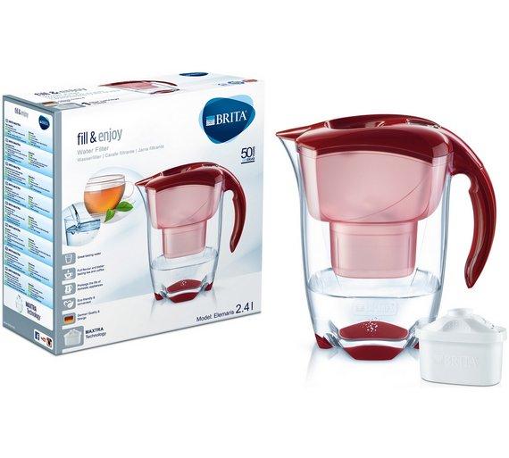 Brita Elemaris meter cool water filter jug - red now £13.99 @ Argos