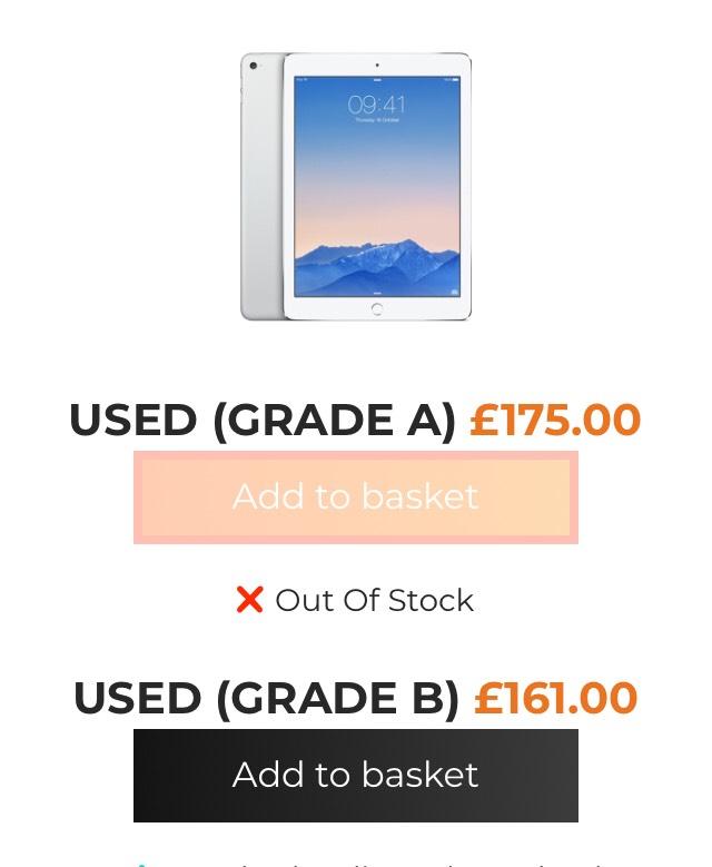 iPad Air 2 16GB Silver (WiFi) - Grade B - £161.00 at Grainger Games