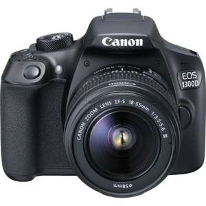 Canon EOS 1300D Kit with 18-55 III Lens Digital SLR Cameras - Black £239.99 - 	Toby Deals