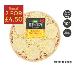 Asda Cheese Meltdown Pizza 2 x10 inch £4.50