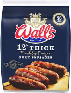 Wall's 12 Thick Pork Sausages (500g) - £1 @ Morrisons
