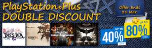 Playstation Plus PS+ Double Discouny Sale at PSN Store Indonesia *     Mortal Kombat, Battlefront, GTA V, Wolfenstein, Mass Effect, FIFA 18, Evil Within 2, God of War 3, Mafia 3, Uncharted Trilogy and MORE