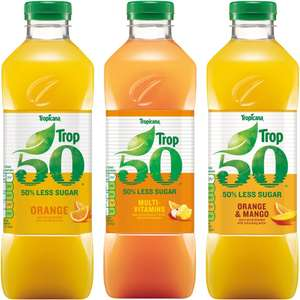 Tropicana Trop50 Orange / Multi-Vitamins / Orange & Mango Juice (1L) - £1 @ ASDA
