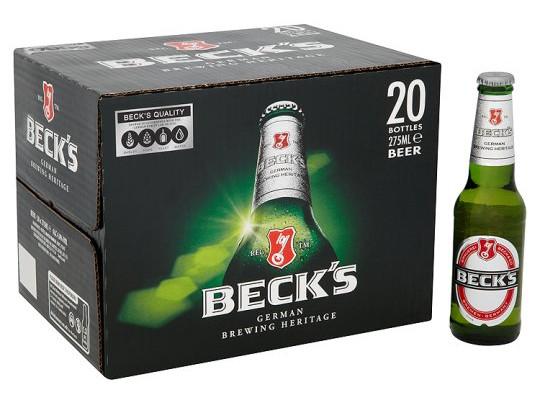 Becks 20 x 275ml for £10 @ Tesco (from 20/03)