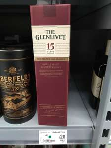 Glenlivet 15yo Single Malt Whisky for £20 instore at Asda