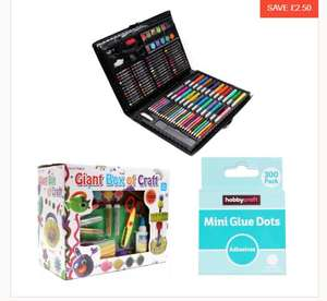 Kids Craft Bundle - 120 Piece Art Set / 1000 Piece Giant Box of Crafts / 300 Mini Glue Dots £11.50 C+C @ Hobbycraft