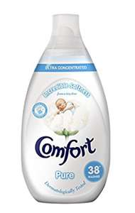 Comfort Pure Ultra Concentrated Fabric Conditioner, 3.42 L - 228 Washes (38 Washes x Pack of 6) £9.00 (Prime) / £13.75 (non Prime) at Amazon