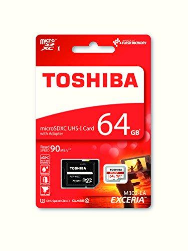 Toshiba Exceria M302 64GB Micro SD Memory Card 90 MB/s 4K £14.90 prime / £18.98 non prime @ Amazon