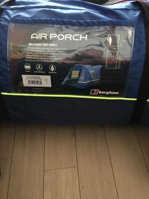 Berghaus air porch £169 from ultimate outdoors Preston