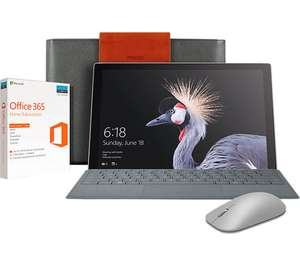 CURRYS. Microsoft Surface Pro 12,3. 8GB RAM. 256GB SSD. i5 AND Accessory bundle  £1079