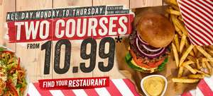 All Day Monday to Thursday,Two courses from £10.99 @ TGI Fridays