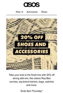 ASOS 20% off Shoes and Accessories