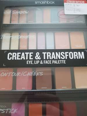 Smashbox Create & Transform Palette was £70 now £15 instore at Boots