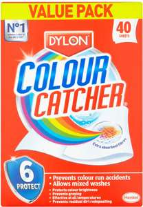 Dylon Colour Catcher Bumper Pack (40 sheets) - £3 @ ASDA
