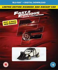 Fast And Furious 1-7 Blu-Ray Boxset Digibook Bonus Disc and Car with code SIGNUP10 at Zoom