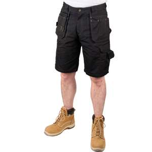 "Stanley Durham Holster Pocket Shorts 30"" Black £13.34 @ Toolstation"