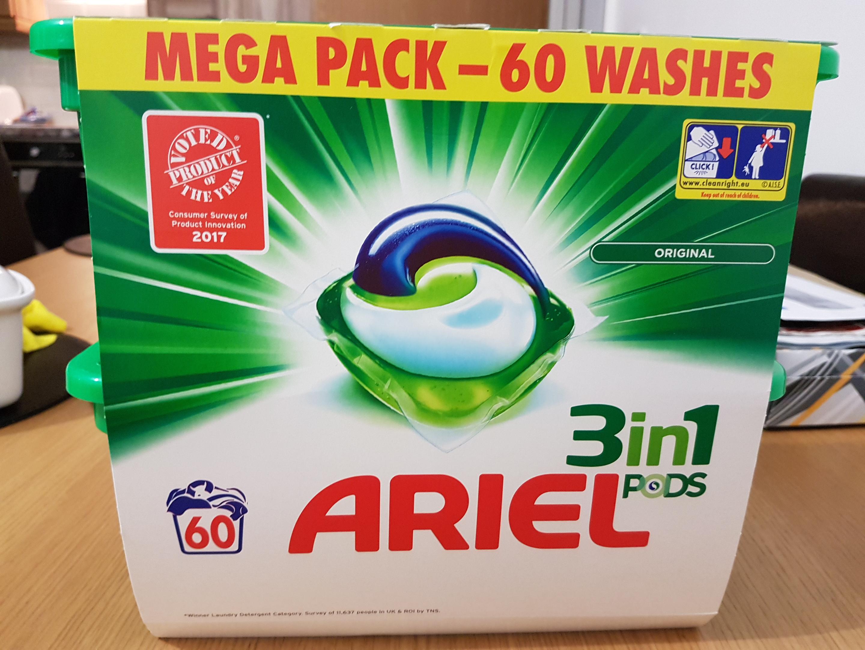 Ariel 3 in 1/Fairy non bio pods 60 washes instore @Semichem (Ballymena)