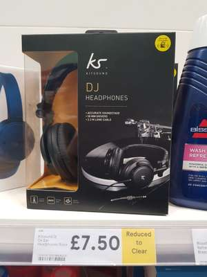 Kitsound DJ On Ear Headphones £7.50 (Reduced from £30) Tesco in-store (Litherland)
