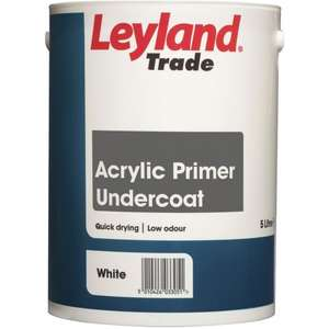 LEYLAND TRADE ACRYLIC PRIMER UNDERCOAT PAINT WHITE 5 LTR - £17.99 @ Selco (Free C&C)