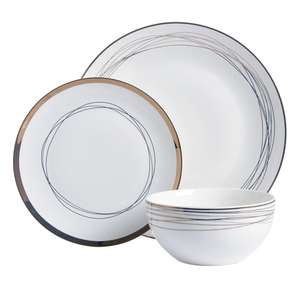 Radiance Gold 12 piece dinner set £7.50 reduced from £15 instore Wilkinson