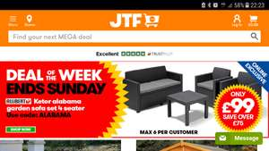 £75 OFF using voucher code ALABAMA at JTF.com