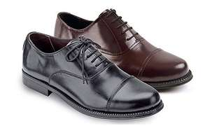 2 PAIRS REAL LEATHER HAND STITCHED OXFORD SHOES (BOGOF) - £44.99 @ Clifford James